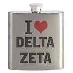 I Love Delta Zeta Flask
