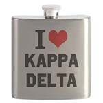 I Love Kappa Delta Flask