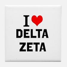 I Love Delta Zeta Tile Coaster