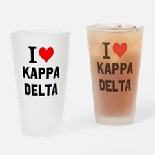 I Love Kappa Delta Drinking Glass