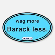 Wag More Barack Less Lt Blue / Decal