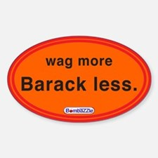 Wag More Barack Less Orange / Decal