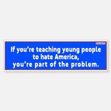 If Youre Teaching Young People To /bumper Bumper Bumper Sticker