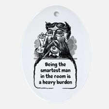 Smartest Man Oval Ornament
