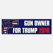 Gun Owner For Donald Trump Sticker (Bumper)