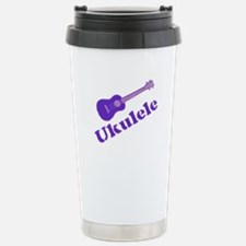 Purple Ukulele Travel Mug