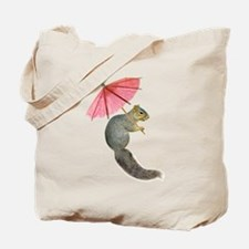 Squirrel Pink Parasol Tote Bag