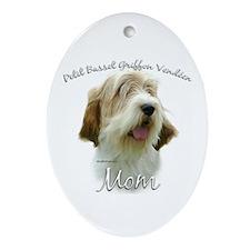 PBGV Mom2 Oval Ornament