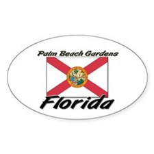 Palm Beach Gardens Florida Oval Decal