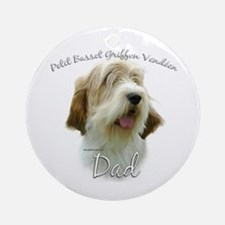 PBGV Dad2 Ornament (Round)
