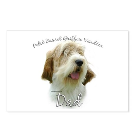 PBGV Dad2 Postcards (Package of 8)