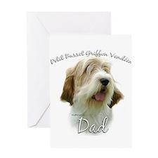 PBGV Dad2 Greeting Card