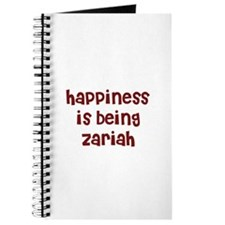 happiness is being Zariah Journal