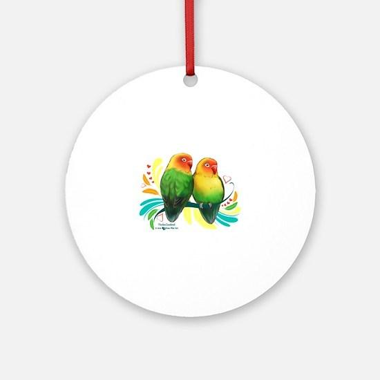Fischer Lovebirds Round Ornament