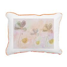 Soft flower design Rectangular Canvas Pillow