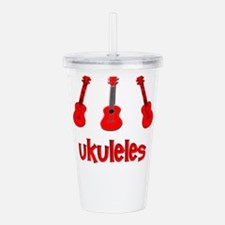 Red Ukuleles Acrylic Double-wall Tumbler
