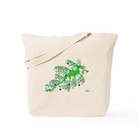 Festive Sea Dragon Tote Bag