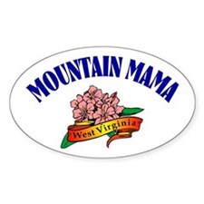 Mountain Mama Oval Bumper Stickers
