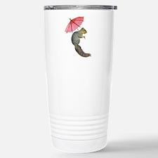 Squirrel Pink Parasol Travel Mug