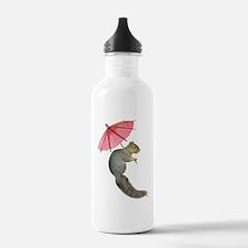 Squirrel Pink Parasol Water Bottle