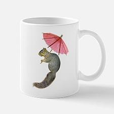 Squirrel Pink Parasol Mugs