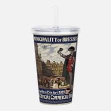 Vintage poster - Bruss Acrylic Double-wall Tumbler