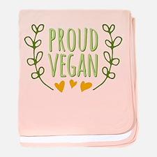 Proud Vegan baby blanket