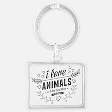 I Love Animals Landscape Keychain