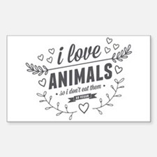 I Love Animals Decal