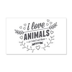 I Love Animals Wall Decal
