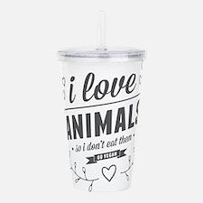 I Love Animals Acrylic Double-wall Tumbler