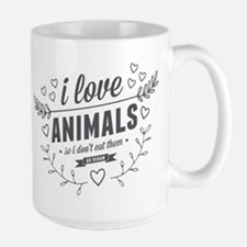 I Love Animals Large Mug