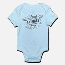 I Love Animals Infant Bodysuit