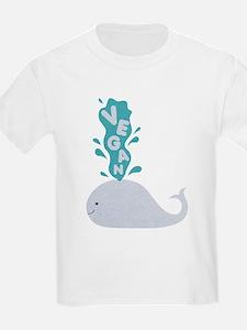 Blue Vegan Whale T-Shirt