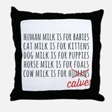 Human Milk is for Babies Throw Pillow