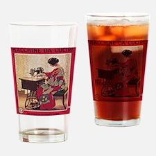 Unique Vintage advertisement Drinking Glass