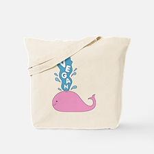 Pink Vegan Whale Tote Bag