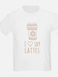 Tan I Heart Soy Lattes T-Shirt
