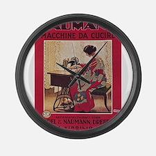 Vintage poster - Naumann Sewing M Large Wall Clock
