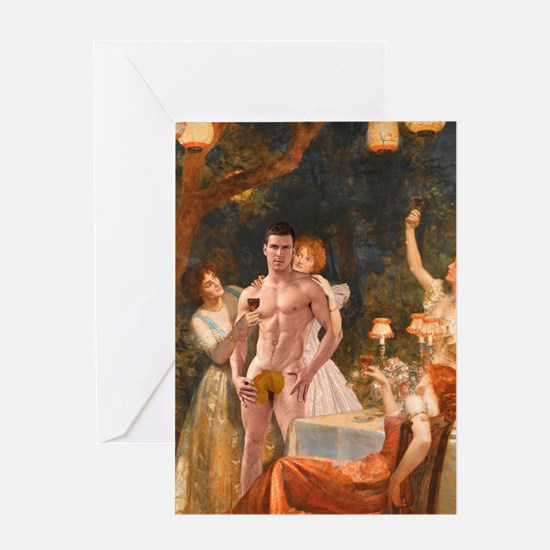 Funny Naked male Greeting Card
