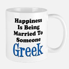 Happiness Married To Someone Greek Mugs