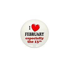 February 13th Mini Button (100 pack)