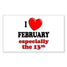 February 13th Rectangle Decal