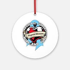 Thyroid Disease Advocate Round Ornament