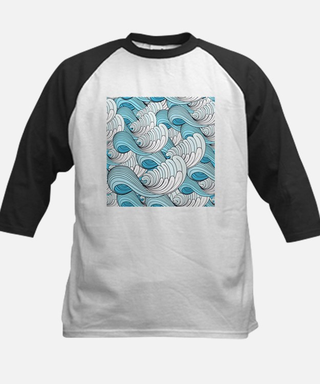 Ocean Waves Baseball Jersey