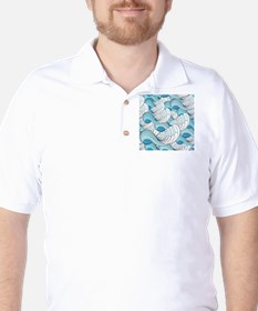 Ocean Waves Golf Shirt