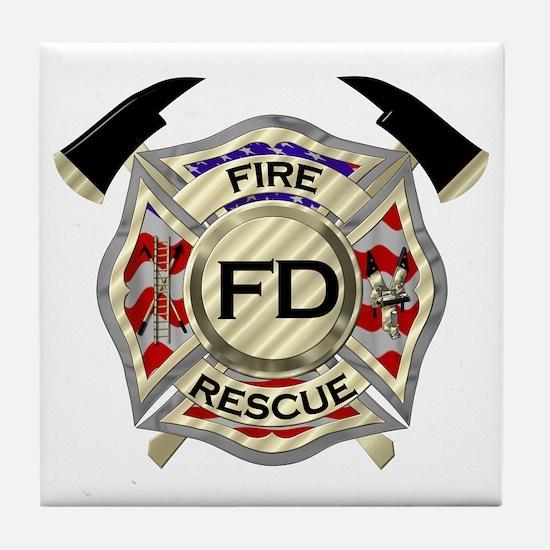 Unique Fire rescue Tile Coaster