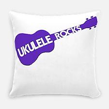 Ukulele Rocks Everyday Pillow