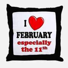 February 11th Throw Pillow