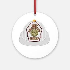 Unique Fire chief Round Ornament